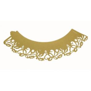 Capas para CupCakes Natal Dourado - Conj. de 12