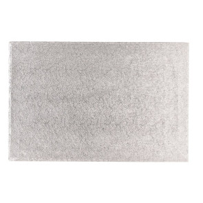 Placa prateada de cartão rectangular 30X50cm
