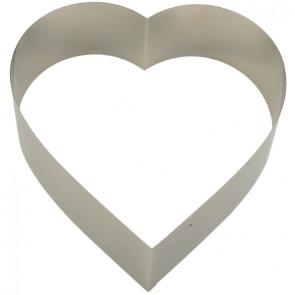Aro Coração Inox 16x16cm