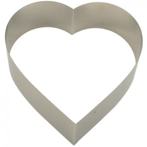 Aro Coração Inox 20x20cm