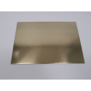 Prato dourado rectangular liso 30x40cm (Elegance)