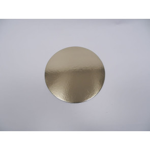 Prato dourado redondo liso 32cm (Elegance)
