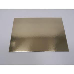 Prato dourado rectangular liso 25x35cm (Elegance)