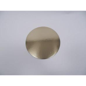 Prato dourado redondo liso 26cm