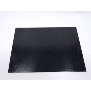 Prato preto rectangular liso 30x40cm (Elegance)