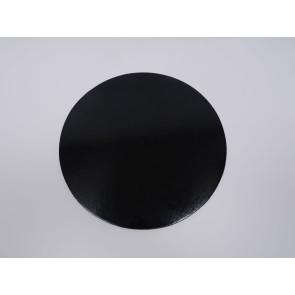 Prato preto redondo liso 30cm (Elegance)
