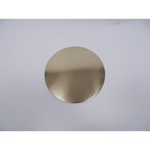 Prato dourado redondo liso 20cm (Elegance)