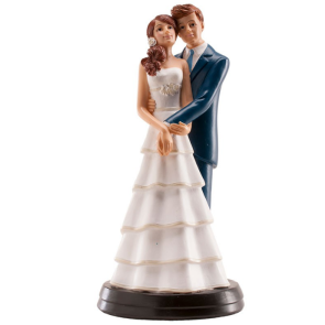 Casal Noivos Abraçados - 18cm