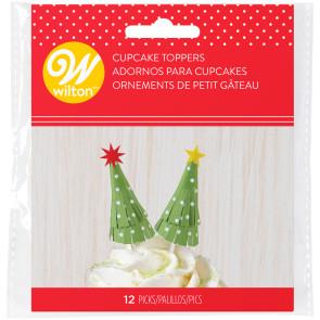 Topo de Cupcake Árvore de Natal - Conj. 12 - Wilton