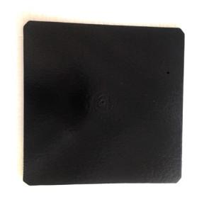 Prato preto quadrado liso 28cm (Elegance)