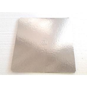 Prato prateado quadrado liso 28cm (Elegance)