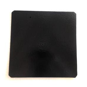 Prato preto quadrado liso 35cm (Elegance)