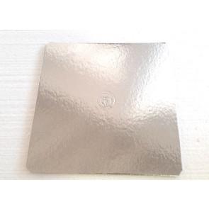 Prato prateado quadrado liso 35cm (Elegance)