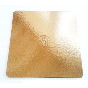 Prato dourado quadrado liso 35cm (Elegance)