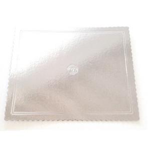 Prato prateado rectangular ondulado 40x50cm (Aba)