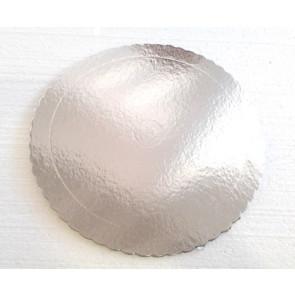 Prato prateado redondo ondulado 32cm (Aba)