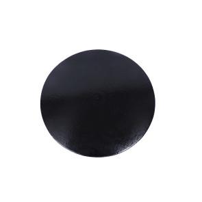 Prato preto redondo liso 36cm (Elegance)