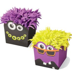 Tacinhas de Cupcakes Quadradas Monstros - Conj. de 12