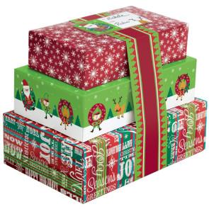 Caixas Natal para Bolachas - Conj. de 3