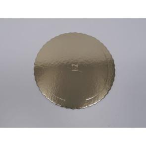 Prato dourado redondo ondulado 24cm (Aba)
