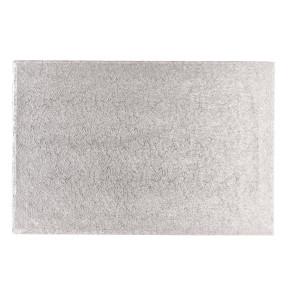 Placa prateada de cartão rectangular 45x76cm