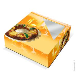 Caixa Cartolina para Bolo Rei 30x30 cm