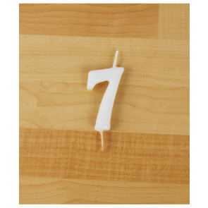 Vela Nº7 Branca