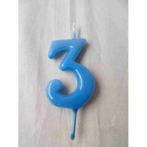 Vela Nº3 Azul Bebé