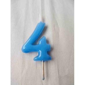 Vela Nº4 Azul Bebé