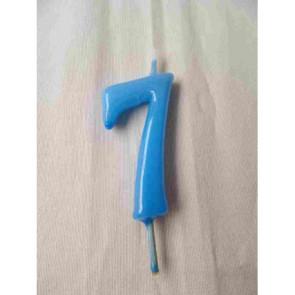Vela Nº7 Azul Bebé