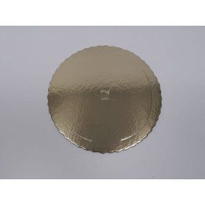 Prato dourado redondo ondulado 40cm (Aba)